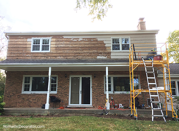 Exterior Paint Job Shave Sand Wash Stain Repeat
