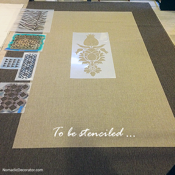 Ikea Rug to be Stenciled