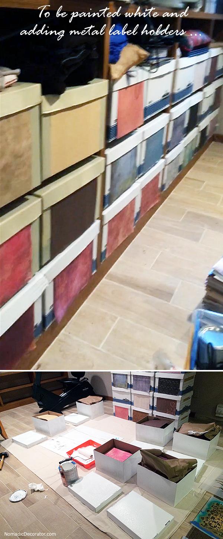 Painting Storage Boxes White