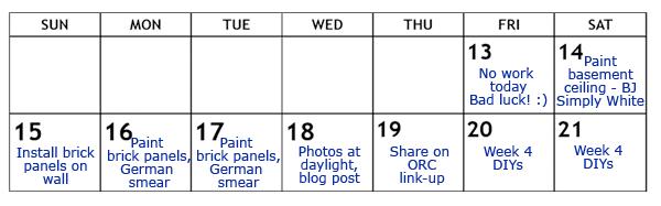 Week 3 Schedule