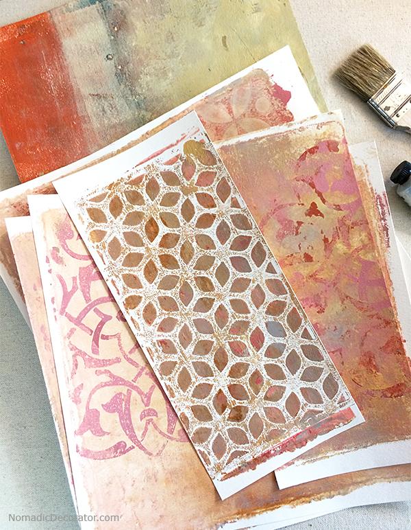 Gelli Printed Papers