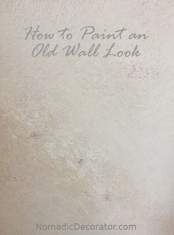 How to Paint an Old Wall Look