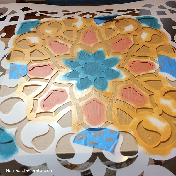 Moroccan Stenciled Step Stool