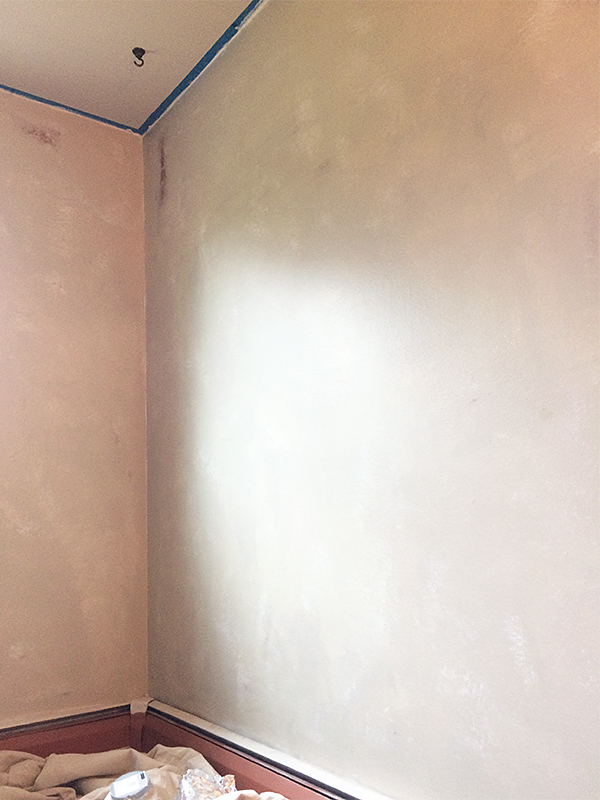 Second Layer of Paint to Make an Old Wall Look