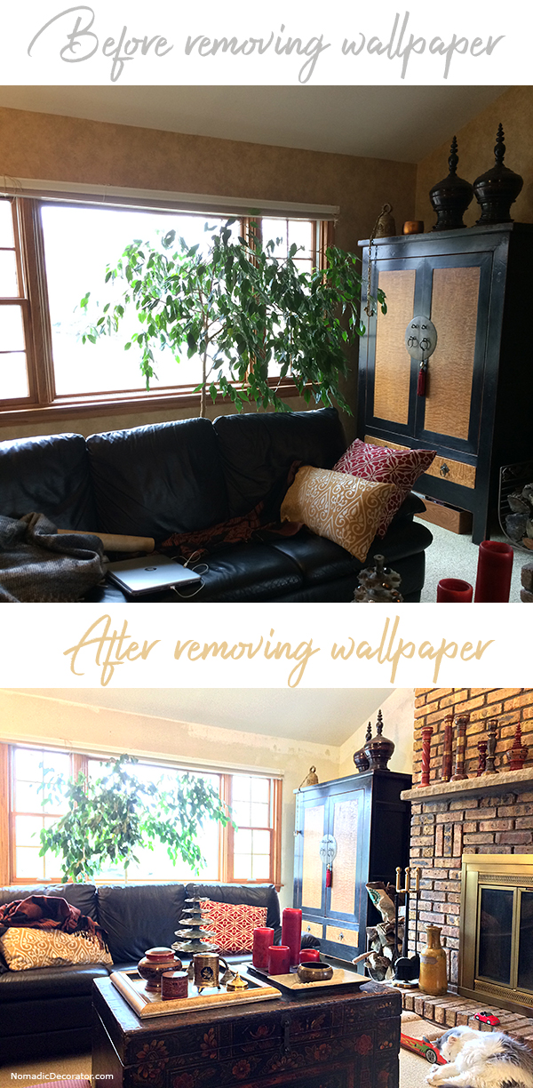 Before & After Wallpaper Removal