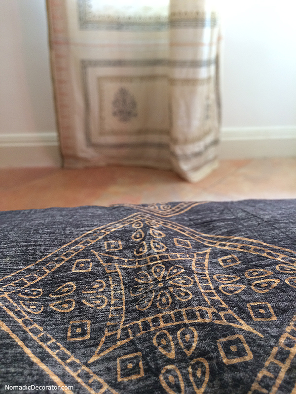 Block Print Bedding and Curtain