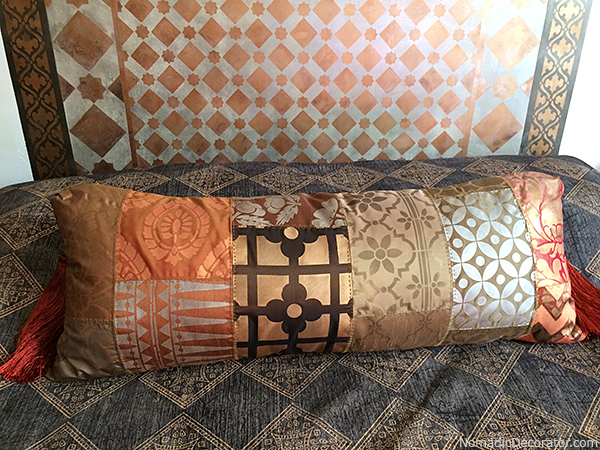 DIY Stenciled Patterned Pillow