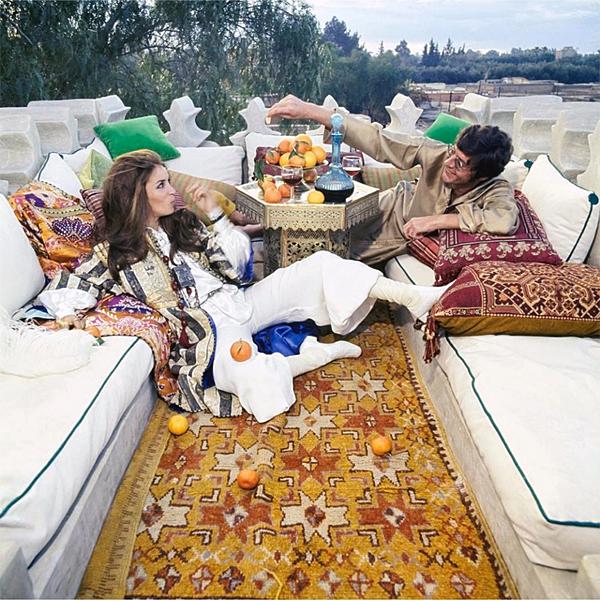 Talitha and Bill Getty Marrakech