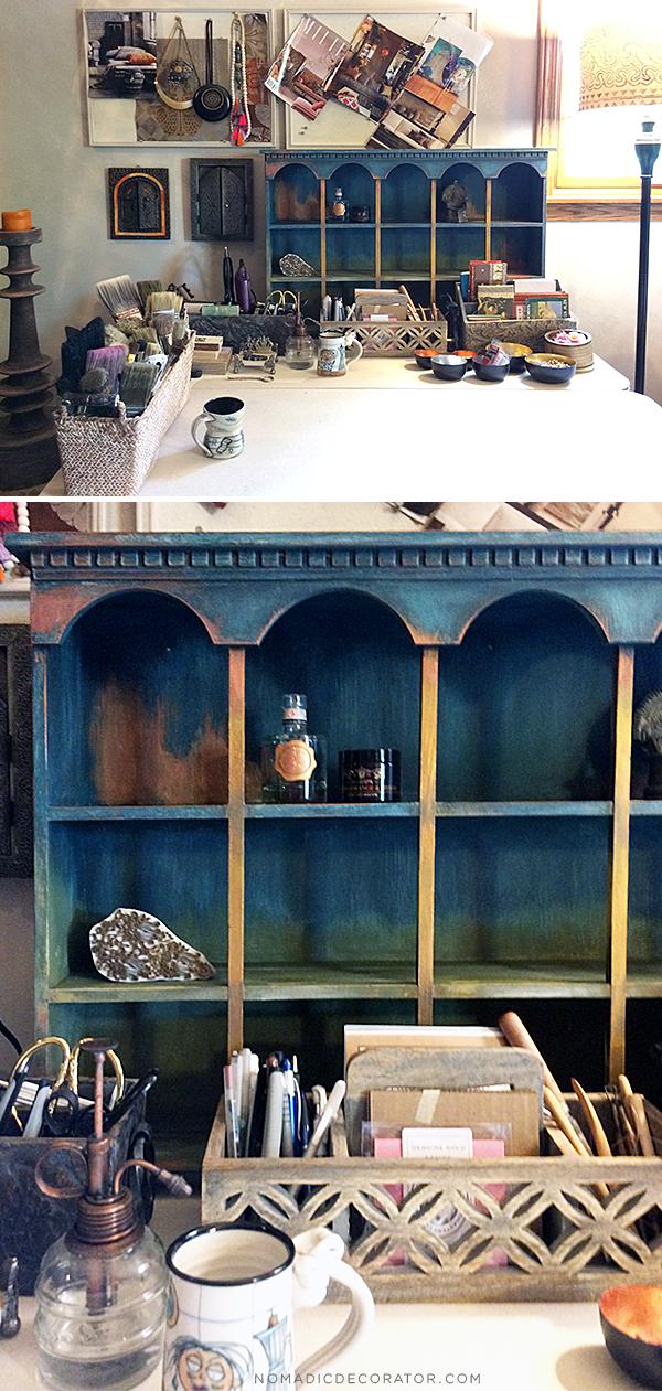 Painted Shelf in Studio